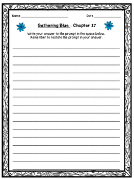 "Gathering Blue ""Up-Words"" Activity (Chapter 17)"