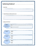 Claim, Evidence, and Reasoning for Argumentative Writing: Graphic Organizer