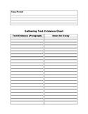 Gathering Text Evidence Graphic Organizer