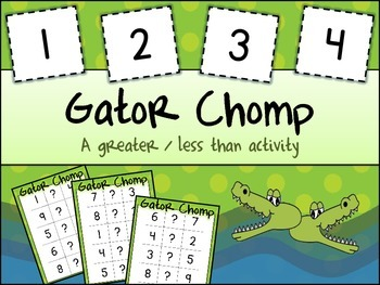 Comparing Numbers - Gator Chomp