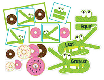 Gator Donut Chomp: Greater Than, Less Than and Equal To Activities and Tools