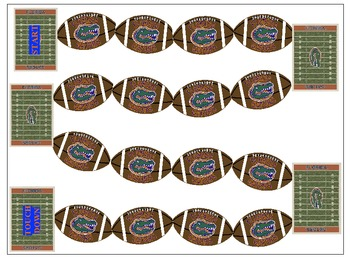 Gator Football Game Board