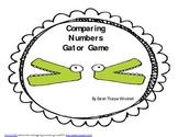 Gator Game Comparing Numbers Common Core Math  K.CC.4   1.NBT.1   2.NBT