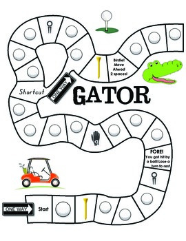 Gator Golf Comparing Numbers Game and Center