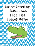 Gator Greater-Less Than File Folder Game