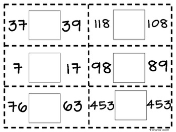 Gator Math: Comparing Numbers