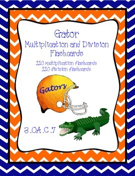 **FREEBIE** Gator Multiplication and Division Flashcards ~