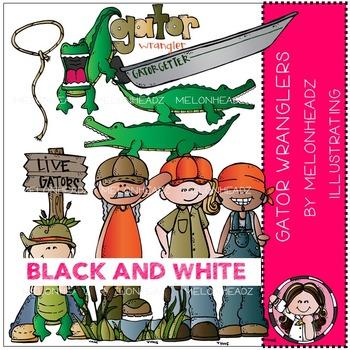 Melonheadz: Gator Wranglers clip art - BLACK AND WHITE
