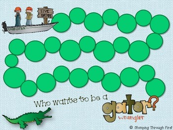 Gator Wrangling Sight Words- A practice game for Dolch First Grade List