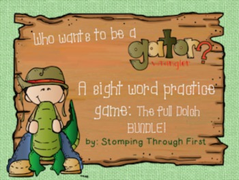 Gator Wrangling Sight Words-The Full Dolch BUNDLE!