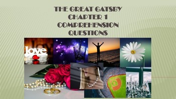 Gatsby Chapter 1 Comprehension Questions and Quiz