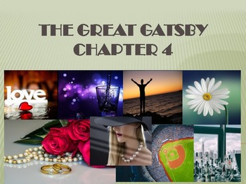 The Great Gatsby Chapter 4 Limerick Activity