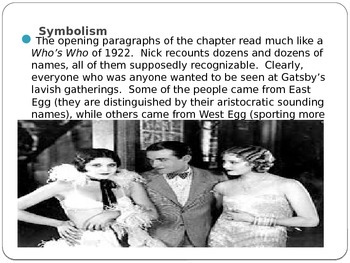 Gatsby Chapter 4 PowerPoint Summary/Discussion