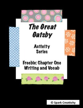 Gatsby Chapter One Freebie: Writing Prompt and Vocab