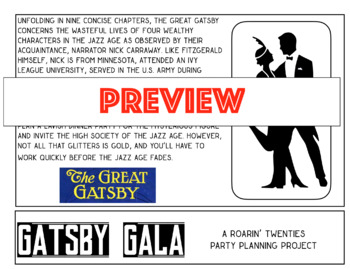 Gatsby Gala: A Roarin' Twenties Party Planning Project