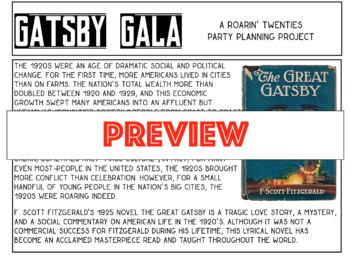 Gatsby Gala: A Roarin' Twenties Party Planning Project