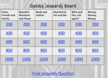 Gatsby Jeopardy