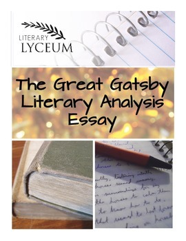 The Great Gatsby Literary Analysis Essay By Literary Lyceum  Tpt  Personal Essay Samples For High School also High School Application Essay Examples  Health Promotion Essays