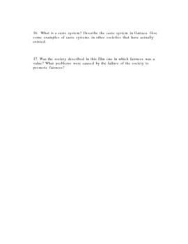 GATTACA Review questions