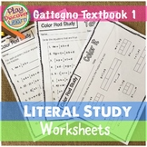 Gattegno's Literal Study Worksheets Textbook 1