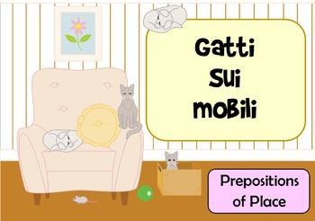 Gatti Sui Mobili - Italian Prepositions of Place Flashcards