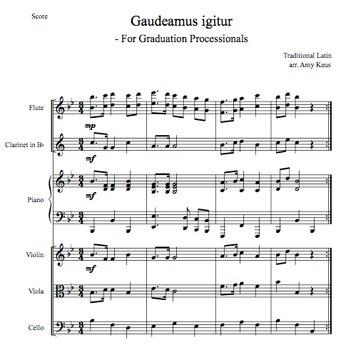 Gaudeamus igitur Score