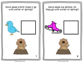 Gavin the Groundhog Mini-Book and Activities