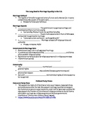 Gay Marriage & Federalism Note Sheet: The Long Road to Marriage Equality
