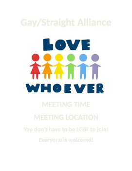 Gay Straight Alliance Sign/Activity