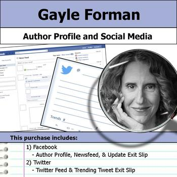 Gayle Forman - Author Study - Profile and Social Media