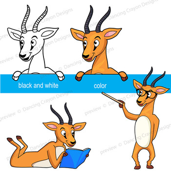 Gazelle Clip Art | Antelope Clipart with signs