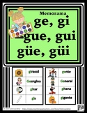 Ge gi gue gui güe güi Memorama con dibujos  Memory game