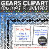 Gear Frames and Dividers Clipart Set