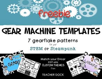 Gear STEM steampunk theme FREEBIE