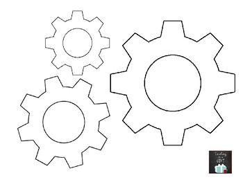 image regarding Free Printable Gear Template titled Printable Gears Visuals - Opposite Glimpse