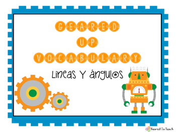 Geared Up Vocabulary - Lines and Angles - Spanish