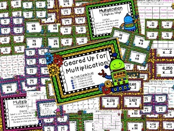 Geared Up for Multiplication - 4 Sets of Task Cards