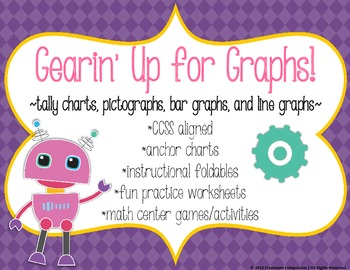 Gearin' Up for Graphs Pack *CCSS (line & bar graphs, picto