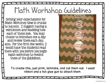 Guided Math Binder and Guide