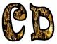 Gears Alphabet Bulletin Board Letters