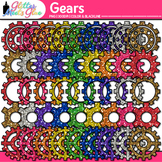 Rainbow Gears Clip Art | STEM & STEAM Science Graphics, Engineering Process