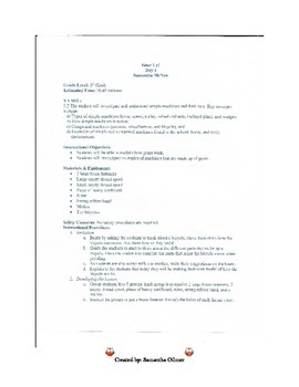 Gears Lesson Plan & Lab Sheet