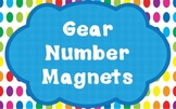 Gears Numbered Magnets
