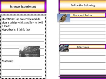 Gears and Pulleys  Simple Machines Mini Booklet PDF File