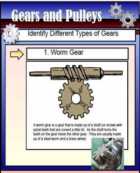 Gears and Pulleys Smartboard File 33 pages
