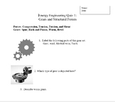 Gears and Structural Forces Quiz and Answer Key