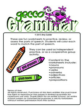Gecco Grammar  (color parts of speech)
