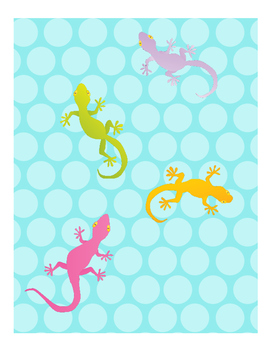 Gecko Themed Organizer
