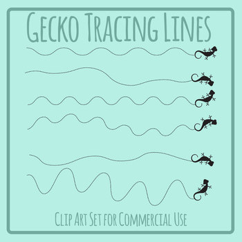 Gecko Walking Tracing Lines for Pencil Control and Left to Right Progression
