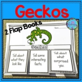 Geckos Writing Flap Books and Fast Facts Graphic Organizers!
